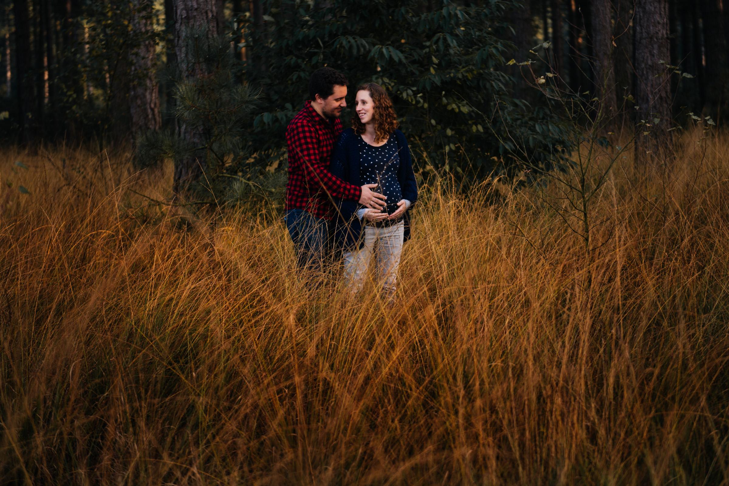 zwangersschapsshoot Kalmthoutse Heide